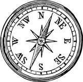 Compass. The vector image of an old compass Stock Image