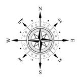Compass. Panel on white background Stock Photos
