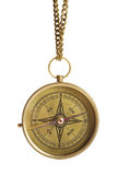 Compass. Antique compass isolated on white background