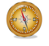 Compass. Illustration on a white background Royalty Free Stock Photos