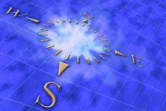 Compass. Digital art. Illustrated compass Royalty Free Stock Photo