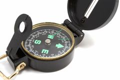 Compass. Over white Royalty Free Stock Photo