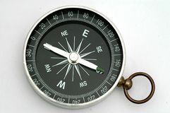Compass. A single compass on white background Stock Photo
