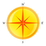 Compass. Simple Illustration for a compass Royalty Free Stock Photography