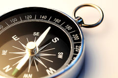 Compass. Close up of a compass on white background Stock Photos