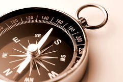 Compass. Close up of a compass on white background Royalty Free Stock Image