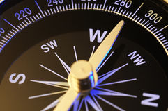Compass. Close up of a compass on white background Royalty Free Stock Images