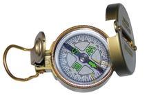 Compass. Springtime.Kazan.Compass.In metallic,the bronze body.Dial indicator gage Royalty Free Stock Image