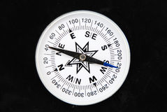 Compass. Still life of compass on black background Royalty Free Stock Image