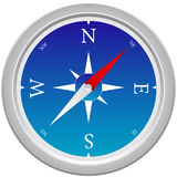 Compass. Highly detailed compass illustration on a white background Stock Photo