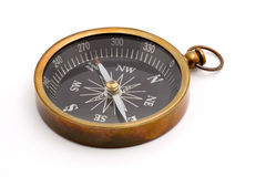 Compass. Studio isolated over white Royalty Free Stock Photos