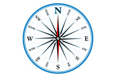 Compass. Instrument for directions Royalty Free Stock Photos