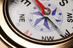 Compass. The device for the instruction of a direction and a card Stock Photos