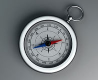 Compass. On a gray background Stock Image