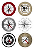 Compass. Icons on white background Royalty Free Stock Photos