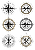 Compass. Icons on white background stock illustration