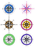 Compass. Icons on white background Royalty Free Stock Photo