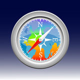 Compass. Colorful compass and blue background Stock Photography