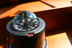 Compass. On yacht Stock Image