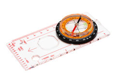 Compass. With a transparent ruler on a white background Stock Photo