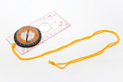 Compass. With ruler on the string Royalty Free Stock Photos
