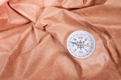 Compass against the skin Royalty Free Stock Photos