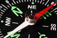 Compass arrow and scale Royalty Free Stock Photo