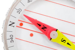 Compass with an arrow specifying in north Stock Photos