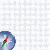 Compass on arrows background Stock Image