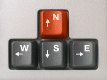 Compass (arrows keys on keyboard) Stock Image