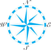 Compass Art. Old fashioned directional compass with each direction stock image