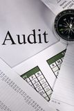 Compass and audit Stock Photos