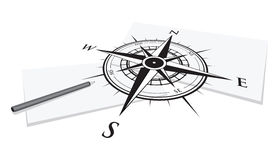 Compass background Royalty Free Stock Image
