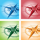 Compass background set Stock Image
