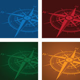 Compass background set Stock Photos