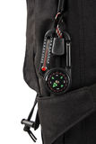 Compass on backpack Royalty Free Stock Photography