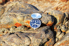 Compass on the beach Stock Image