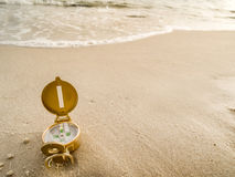 Compass on the beach Royalty Free Stock Image