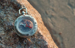 Compass on the beach Stock Images