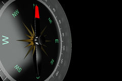 Compass. On black background royalty free stock photos