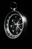 Compass on black Royalty Free Stock Images