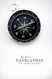 Compass with black dial. Navigation compass with black dial Stock Photos