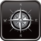Compass black web button Royalty Free Stock Photos