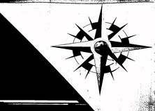 Compass. Black and white illustration of grunge compass royalty free illustration