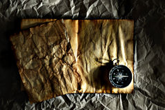 Compass & blank page Stock Photos