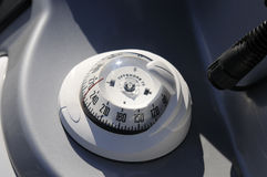 Compass boat. Navigational aid for ships, compass Stock Photography