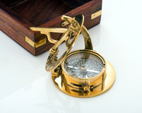 Compass and box Stock Image