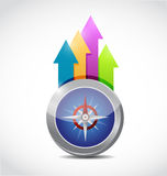 Compass and business arrows illustration design Stock Image