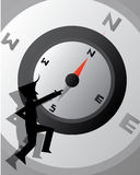 Compass Business Wallpaper. Compass Business cartoon illustration Wallpaper Royalty Free Stock Photos