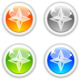Compass buttons. Royalty Free Stock Photography